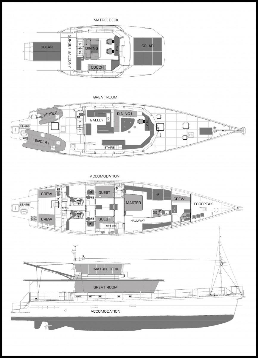 FPB78 Grey Wolf, general arrangement.
